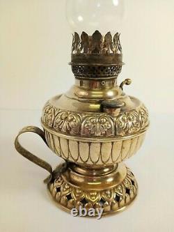 Antique Miniature Tiny Juno Brass Oil Lamp 1800s