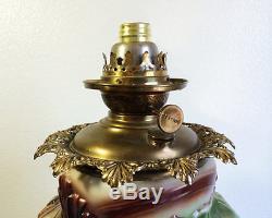 Antique Multi Color Grape GWTW Success Oil Lamp, Pittsburgh Lamps/Pilabrasgo #DL