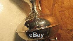 Antique Nickel Plated Rayo Oil Lamp & Shade