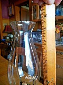 Antique Oil / Kerosene Blue Sheldon Swirl Lamp Super Condition