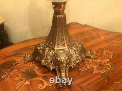 Antique Oil Kerosene Lamp Height 57 cm