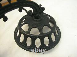 Antique Oil Lamp Wall Bracket Mercury Glass Reflector Fluid Socony Light Kero