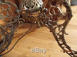 Antique Oil Piano Floor Lamp Cast Electric Bronze Shipping Special