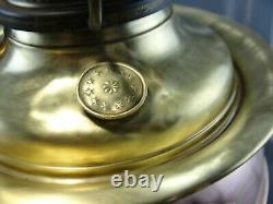 Antique Oil to Electric Bradley & Hubbard B&H Lamp Conversion Milk Glass 1905