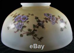 Antique Opal Glass Hanging Oil Lamp Dome Shade 14 1/8 Rim Periwinkle Cornflower