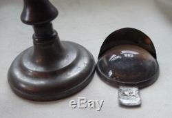 Antique Pewter Bullseye Patent Whale Oil Lens Lamp by Roswell Gleason