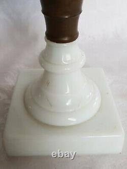 Antique Sandwich Old Oil Kerosene Eapg American Patterned Glass Lamp