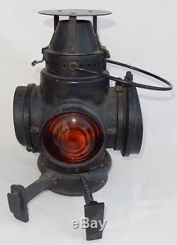 Antique Santa Fe Railroad Oil Switch Lamp or Oil Train Lantern