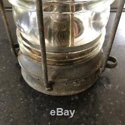 Antique Ship Lamp Anchor DL Oil Burner 1930s Nautical Maritime 1920s Vintage Old