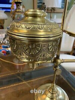 Antique Stern Bros New York Student Oil Lamp Electrified
