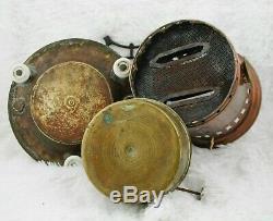 Antique Stove Kerosene 2 burner wick Cooker Heater Oil lamp fuel Brass Copper