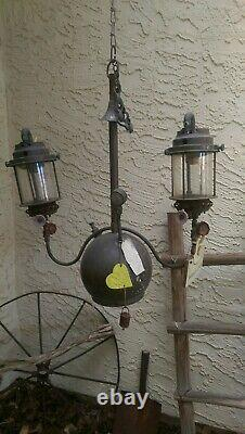 Antique Tilley Hanging Double Lamp