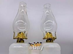Antique Very Rare Ripley Marriage Oil Lamp With Cherub Base 1870, Sandwich Glass
