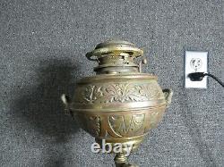 Antique Victorian Bradley & Hubbard Cherub Banquet Lamp