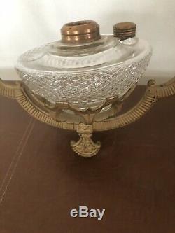 Antique Victorian Cast Iron Ceiling Hanging Oil Lamp Bracket