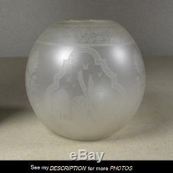 Antique Victorian Kerosene Oil Lamp Fitterless Ball SHADE junior student size
