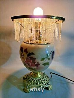 Antique Vintage Oil Lamp Converted to Electric 14'' T by 7'' W