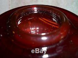 Antique Vintage Original Aladdin B-77 Deep Ruby Lincoln Drape Oil Kerosene Lamp