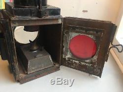 Antique Vintage Railway Rear Oil paraffin Light Lantern Lamp Tail Train