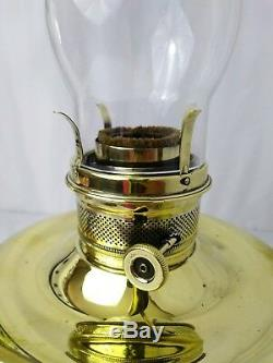 Antique Vtg Aladdin Style Brass Kerosene Parlor Lamp Oil Hurricane Lantern Light