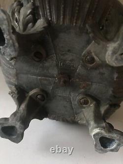 Antique Vtg Brass Cherub Cupid Boudoir Parlor Estate Oil Lamp