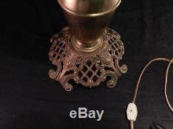 Antique c1890 Banquet OilKerosene MillerJuno LampArt Nouveau GlobeConverted