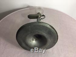 Antique french or German 1800 Glass hand blown whale oil lamp zinc tin spelter