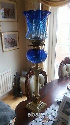 Antique victorian oil lamps