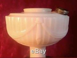 Antique vintage 1939 Aladdin glass oil lamp short lincoln drape