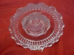 BACCARAT, ANTIQUE FRENCH CRYSTAL OIL LAMP, LATE 19th OR EARLY 20th CENTURY