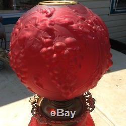 B&H Red Gone With the wind oil lamp kerosene