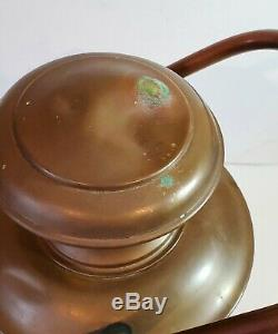 Brass ship/marine/nautical oil lamp/lantern, USN, Perkins 18 VG Condition