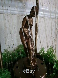 Collectable Nude Goddess Mineral Oil Rain Swag Lamp Drip Motion Table Light