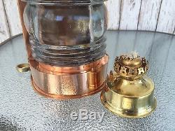 Copper Lookout Lantern Ship Masthead Oil Lamp Nautical Maritime Light