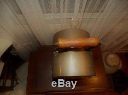 Crisfield MD NAUTICAL c. 1900 BRASS'WEDGE' SHIP CAGED KEROSENE LANTERN OIL LAMP