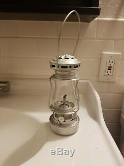 Dietz Scout Antique Skater's Lantern Oil Lamp- Silver