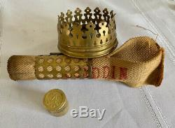 EXCEPTIONAL Aladdin model 110 Antique Oil Kerosene Brass # 4 Student Lamp RARE
