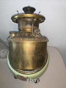 Edward Miller Solar E M & Co Oil Gone With The Wind Parlor Lamp Kerosene Antique