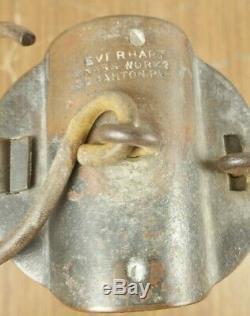 Everhart Brass Works Scranton PA Davy Miners Safety Lamp Lantern Coal Mining Oil