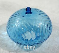 French Moulded Turquoise + Solid Brass Dolphin  Base Kerosene Oil Lamp