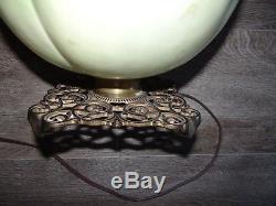 GWTW Hand Painted Oil Kerosene Banquet Parlor Table Lamp 10 Globe Antique