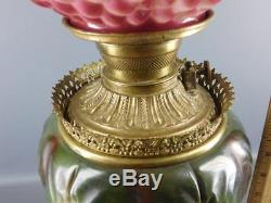Gone With The Wind Gwtw Antique Oil Banquet Parlor Puffy Grape Lamp Converted