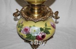 Gone with the Wind Oil Lamp With ROSES (GWTW Banquet Lamp)