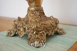 Gwtw Antique Victorian Oil Kerosene Old Banquet Parlor Gone With The Wind Lamp