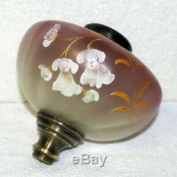 HOLDING FOR shemalg77 FRENCH ALABASTER &GRADUATED ENAMELLED OIL LAMP