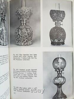 Hobbs Filigree Cranberry Snowflake Antique Art Glass Miniature Oil Lamp