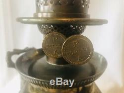 James W Tufts Boston Quadruple Silver Plate Oil Lamp 510 Duplex Burner 13