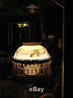 Jeweled Gone with the wnd hanging oil lamp