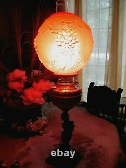 Large Antique New Rochester Cherub Oil Lamp