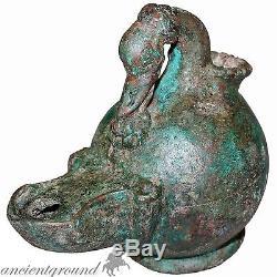 Museum Quality Roman Bronze Oil Lamp, Circa 100-200 Ad